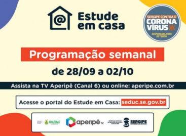 Seduc disponibiliza programação da 24ª semana de videoaulas na TV Aperipê