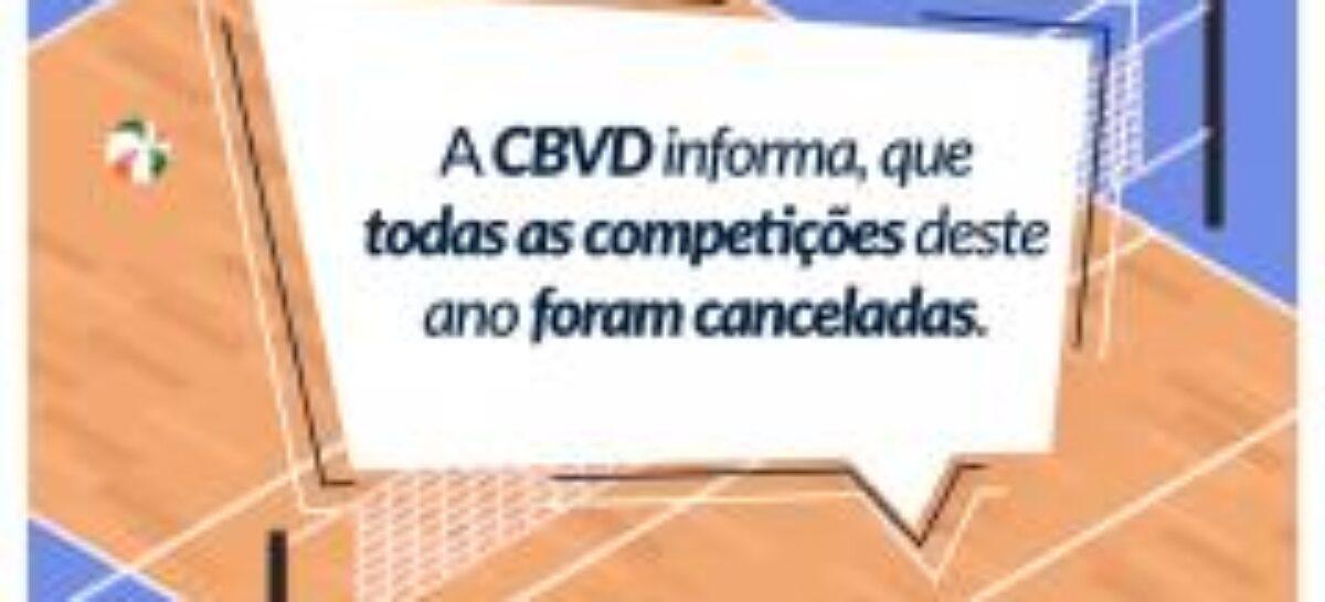CBVD anuncia oficialmente cancelamento de competições 2020
