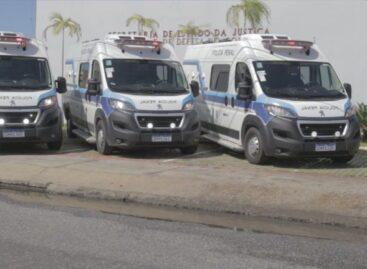 Secretaria da Justiça apresenta novas viaturas para transferência de presos