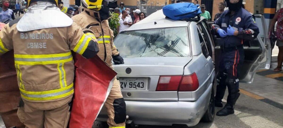 Acidente deixa quatro vitimas feridas em Aracaju
