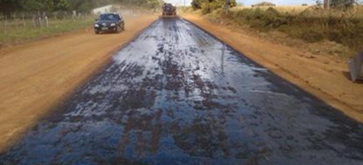Avança Sergipe: Rodovia entre Aquidabã e Graccho Cardoso começa a receber camada asfáltica