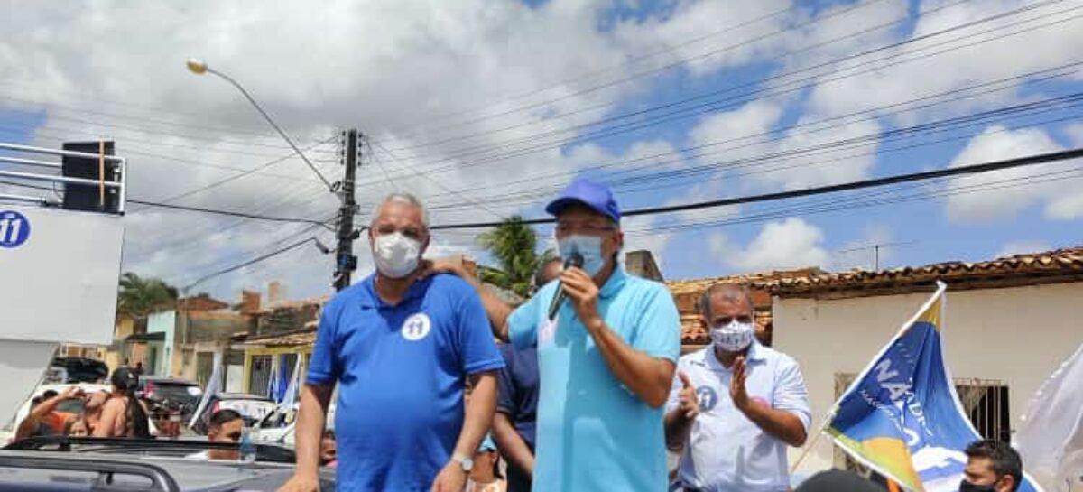 Laércio Oliveira anuncia recursos para Padre Inaldo fazer cobertura da 2ª etapa do canal na praça no Conjunto Jardim