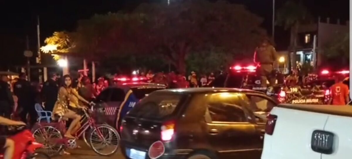 Polícia militar interrompe manifestação política em Tobias Barreto