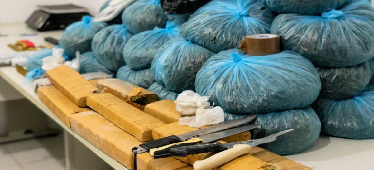 PC apreende mais de 40kg de droga, arma e munições em Aracaju
