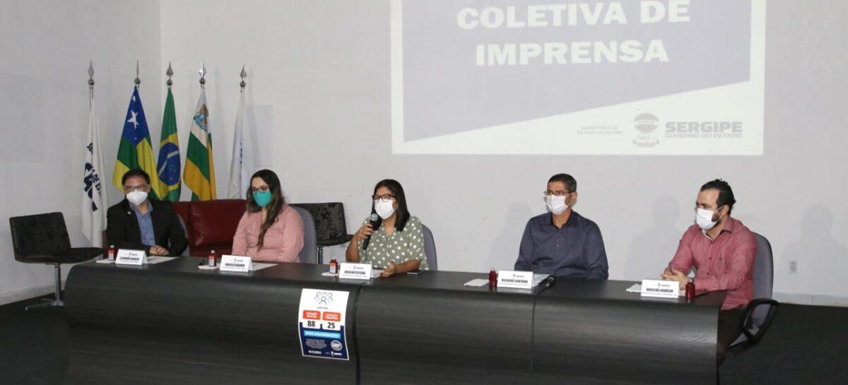 Secretaria  da Saúde e UFS apresentam dados preliminares sobre testagem da Covid