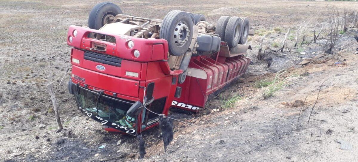 Acidente envolvendo caminhão e motocicleta faz mais uma vítima fatal no interior