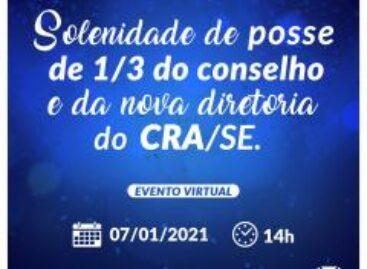 CRA-SE empossará dos conselheiros eleitos e nova diretoria no dia 7 de janeiro