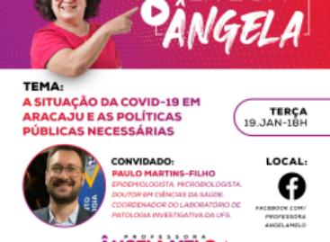 Vereadora Professora Ângela Melo realiza Live sobre situação da covid-19 em Aracaju