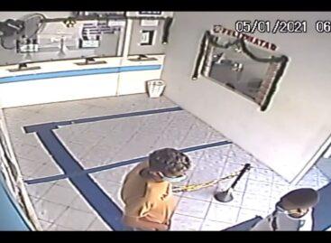 Polícia Civil divulga imagens de roubo a correspondente bancário no município de Lagarto