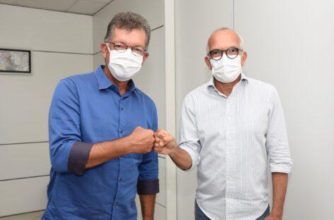 Prefeito Edvaldo e deputado federal Laércio Oliveira reafirmam parceria