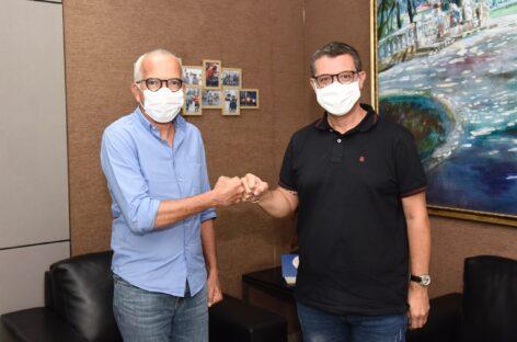 Prefeito Edvaldo Nogueira recebe o deputado federal Fábio Mitidieri