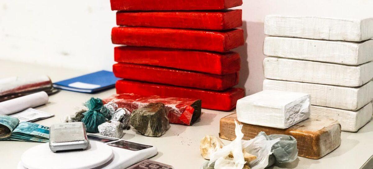 Operação conjunta resulta em três prisões por tráfico de drogas em Aracaju
