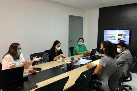 Prefeitura apresenta plano de vacinação contra covid-19 a representantes da Abin em Sergipe