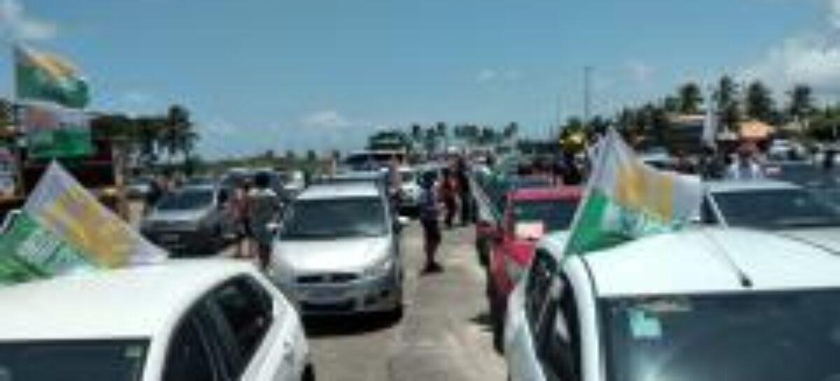 Carreata pelo Fora Bolsonaro reúne 250 carros e motos em Aracaju