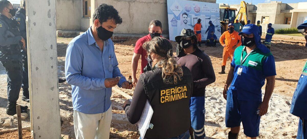 Empreendimento comercial foi flagrado durante operação para coibir furto de água em Aracaju