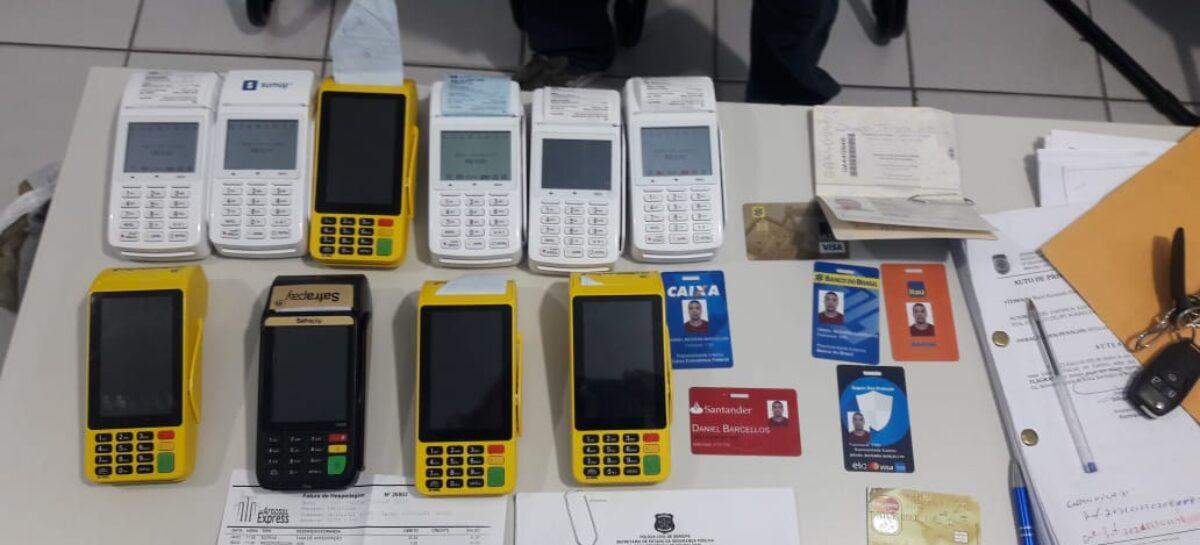 Golpe do cartão recortado: Polícia Civil prende em flagrante suspeitos de estelionatos