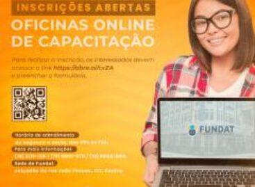 Prefeitura abrirá inscrições para 12 oficinas online da Fundat nesta sexta-feira