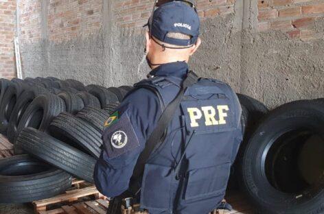 Mais de cem pneus são apreendidos em operação policial conjunta em Itabaiana