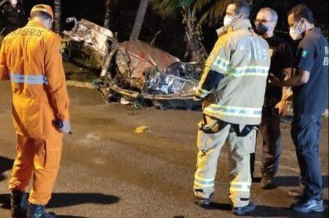 Piloto do avião que caiu no mangue em Aracaju continua desaparecido