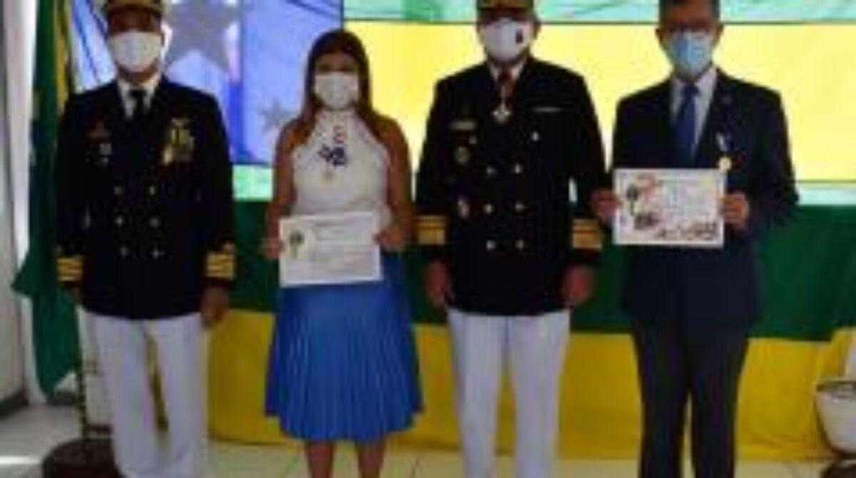 Laércio Oliveira é homenageado com medalha 'Amigo da Marinha'