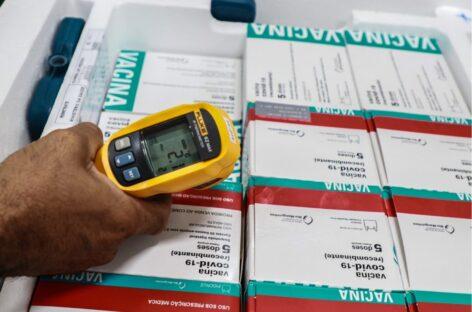 Sergipe informa o recebimento da primeira remessa da semana de vacinas contra a Covid-19