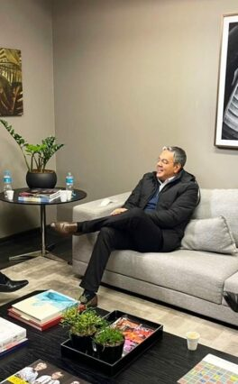 Sérgio Reis participa de reunião com o secretário de Estado da Agricultura de São Paulo