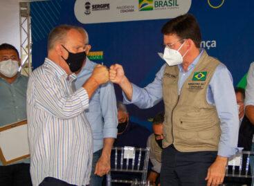 Belivaldo e ministro João Roma participam de ação para fortalecimento de programas de segurança alimentar