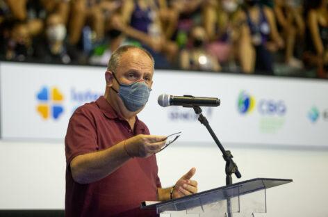 Belivaldo Chagas participa da abertura do Campeonato Brasileiro de Ginástica Rítmica