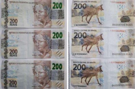 Laudo da Criminalística atesta que grupo estava com sete notas falsas de R$ 200