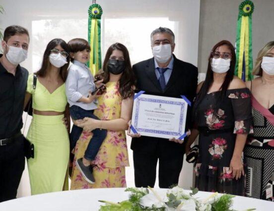 Enock Ribeiro, secretário de Saúde de Socorro, recebe Título de Cidadão Sergipano